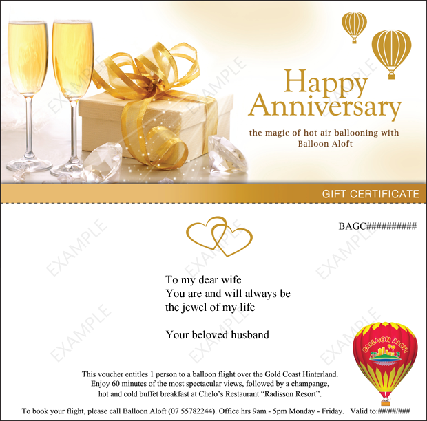 Wedding Anniversary Gift Certificate Template Wedding Gifts – Wedding Gift Certificate Template